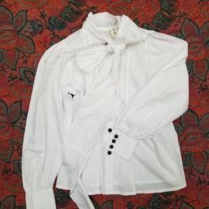 Comme Des Garçons -Tao, white, button up, blouse